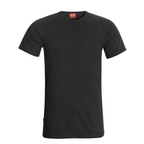 RedRam by Icebreaker Merino Wool Base Layer Top - Short Sleeve (For Men) in Black