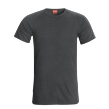 RedRam by Icebreaker Merino Wool Base Layer Top - Short Sleeve (For Men) in Charcoal - Closeouts