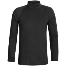 RedRam by Icebreaker Merino Wool Base Layer Top - Zip Neck, Long Sleeve (For Men) in Black - Closeouts