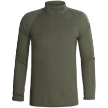 RedRam by Icebreaker Merino Wool Base Layer Top - Zip Neck, Long Sleeve (For Men) in Camo - Closeouts