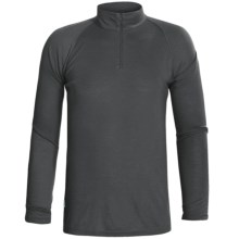 RedRam by Icebreaker Merino Wool Base Layer Top - Zip Neck, Long Sleeve (For Men) in Charcoal - Closeouts