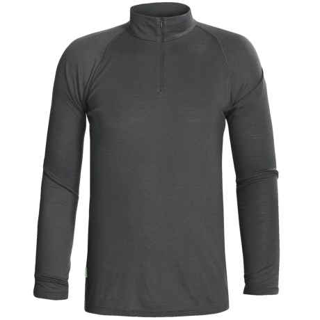 RedRam by Icebreaker Merino Wool Base Layer Top - Zip Neck, Long Sleeve (For Men) in Charcoal
