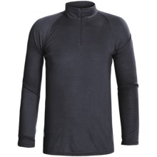RedRam by Icebreaker Merino Wool Base Layer Top - Zip Neck, Long Sleeve (For Men) in Navy - Closeouts