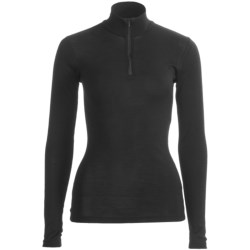 RedRam by Icebreaker Merino Wool Base Layer Top - Zip Neck, Long Sleeve (For Women) in Lobster