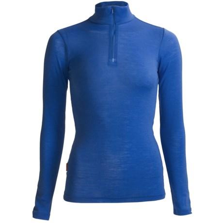 RedRam by Icebreaker Merino Wool Base Layer Top - Zip Neck, Long Sleeve (For Women) in Whirlpool
