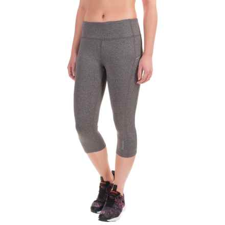 Reebok Ace Capris (For Women) in Charcoal Heather - Closeouts