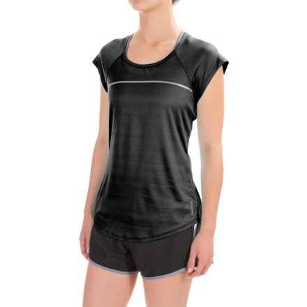 Reebok Ace Shirt - Short Sleeve (For Women) in Black - Closeouts