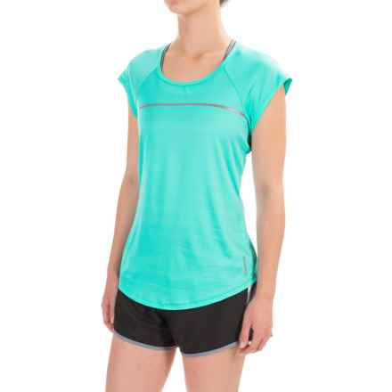Reebok Ace Shirt - Short Sleeve (For Women) in Ceramic - Closeouts