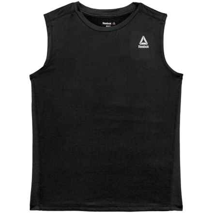 Reebok Active Muscle T-Shirt - Sleeveless (For Big Boys) in Darkest Heather - Closeouts