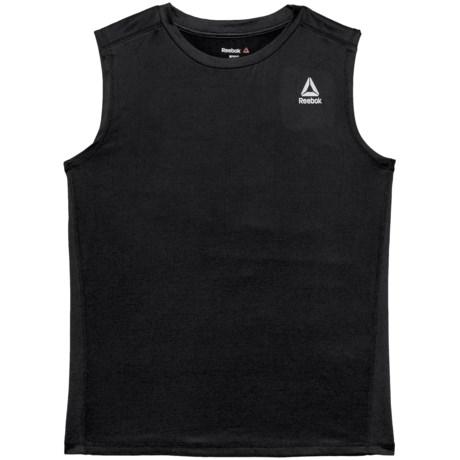 Reebok Active Muscle T-Shirt - Sleeveless (For Big Boys) in Darkest Heather