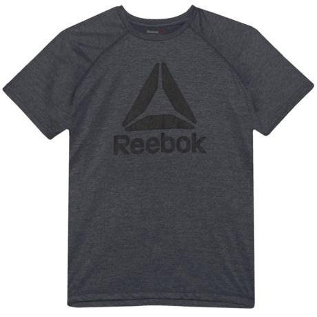 Reebok Active Raglan T-Shirt - Short Sleeve (For Big Boys) in Asphalt Grey