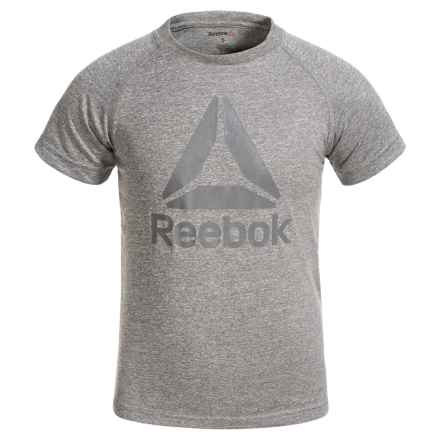 Reebok Active Raglan T-Shirt - Short Sleeve (For Little Boys) in Core Grey - Closeouts