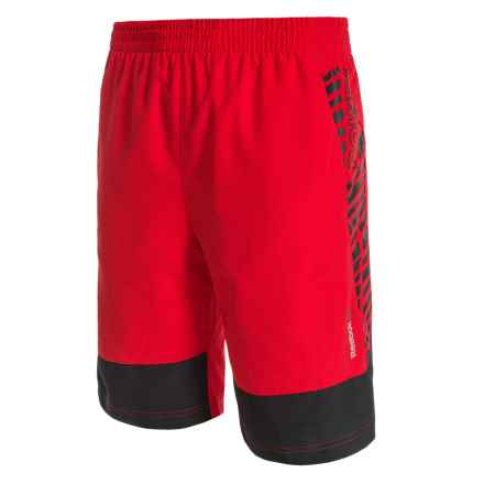 Reebok Angled Shorts (For Big Boys) in Red Rush - Closeouts