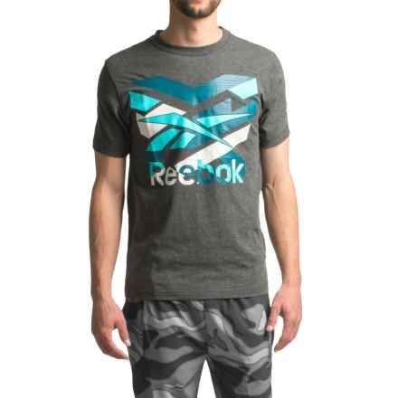 Reebok Archon T-Shirt - Short Sleeve (For Men) in Charcoal Heather - Closeouts
