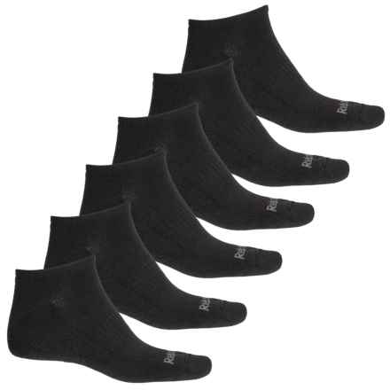 231667d256af Reebok Basic Performance Training Low Cut Socks - 6-Pack, Below the Ankle (