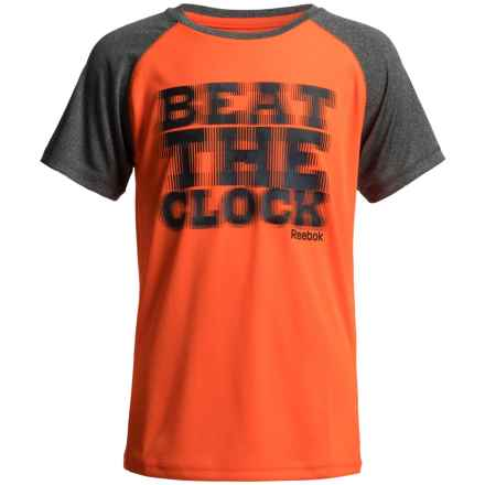 Reebok Beat the Clock T-Shirt - Short Sleeve (For Little Boys) in Orange Catfish - Closeouts