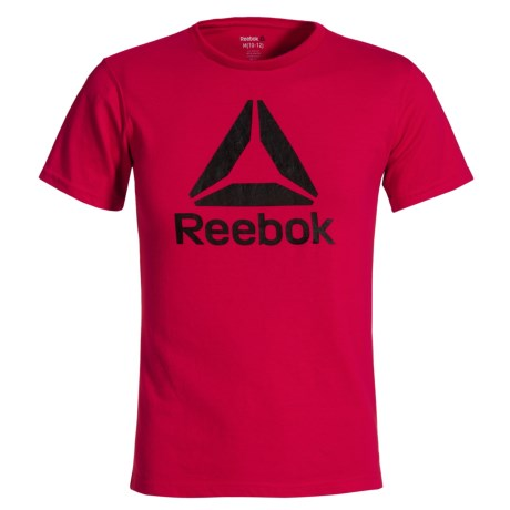Reebok Big Logo T-Shirt - Short Sleeve (For Big Boys) in Red Rush
