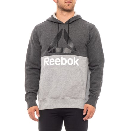 fcc0695f94efd Reebok Boost Pullover Hoodie (For Men) in Charcoal Heather - Closeouts