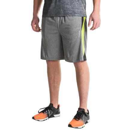 Reebok Borg Shorts (For Men) in Charcoal Heather/Lime Punch Hthr - Closeouts