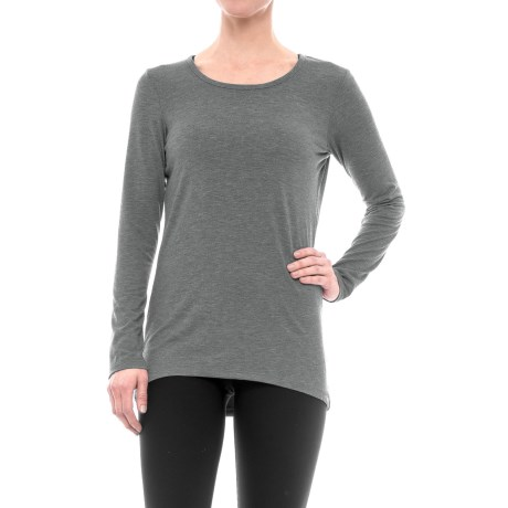 Reebok Breathe Shirt - Open Back, Long Sleeve (For Women) in Charcoal Heather