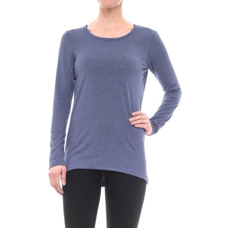 Reebok Breathe Shirt - Open Back, Long Sleeve (For Women) in Deep Cobalt Heather