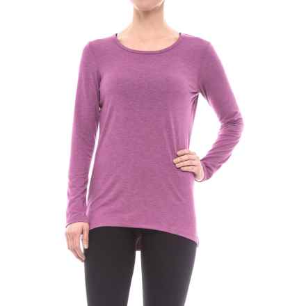 Reebok Breathe Shirt - Open Back, Long Sleeve (For Women) in Hollyhock Heather - Closeouts