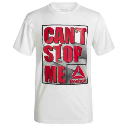Reebok Can't Stop Me T-Shirt - Short Sleeve (For Boys) in True White - Closeouts
