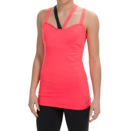 Reebok Cardio Cross Strap Tank Top Built In Bra (For Women)