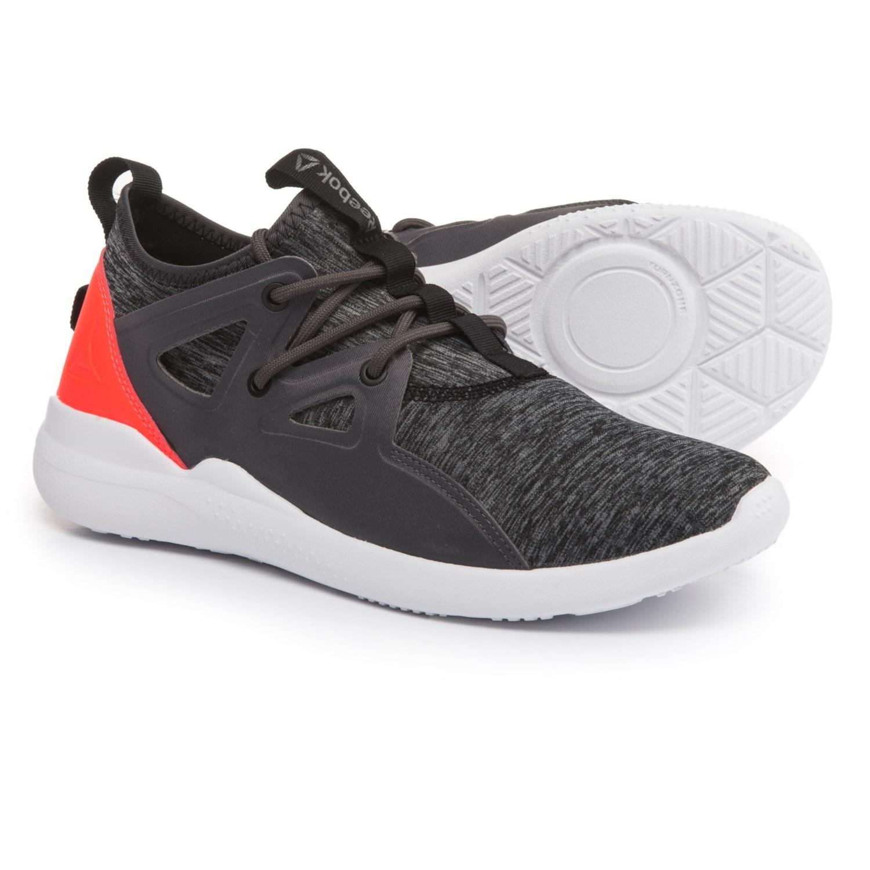 reebok shoes black. reebok cardio motion training shoes (for women) in ash grey/vitamin c/ black