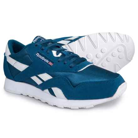 Reebok Classic Nylon Sneakers (For Men) in Sf-Bunker Blue/White - Closeouts