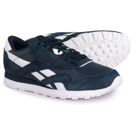 223abd37a69b Reebok Classic Suede-Nylon Sneakers (For Big Boys) in Collegiate Navy White