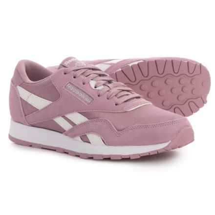 Reebok Classic Suede-Nylon Sneakers (For Big Girls) in Infused Lilac/White/Silver - Closeouts