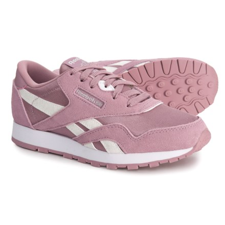 9c4215ee22ac32 Reebok Classic Suede-Nylon Sneakers (For Little and Big Girls) in Infused  Lilac