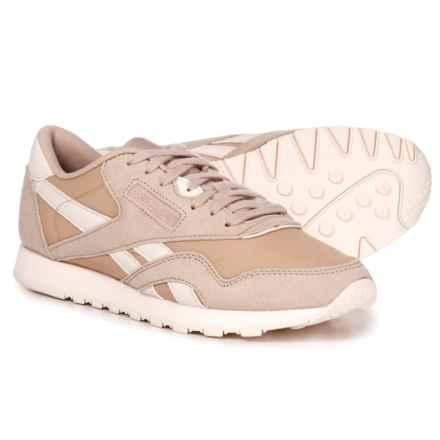 Reebok Classic Suede-Nylon Sneakers (For Women) in Seasonal-Bare Beige/Pale Pink - Closeouts