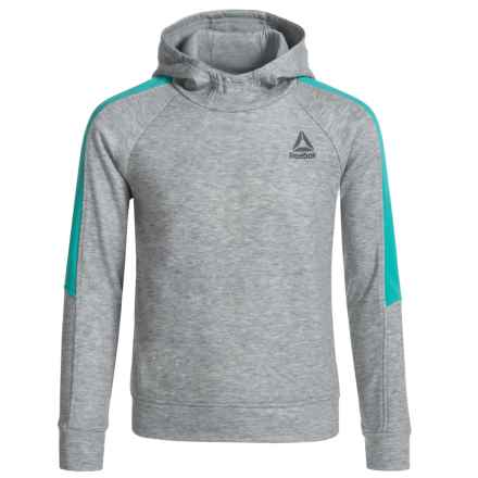 Reebok Color-Block Hoodie (For Big Girls) in Medium Heather Grey - Closeouts