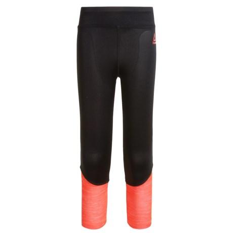 Reebok Color-Block Leggings (For Big Girls) in Coral Heather