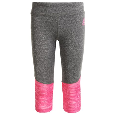 Reebok Color-Block Leggings (For Little Girls) in Heather Pink