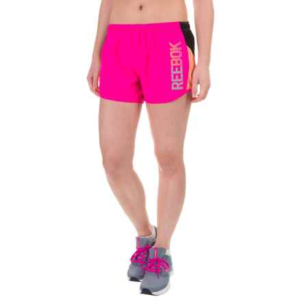 Reebok Competitor Shorts - Built-In Briefs (For Women) in Pink Glo - Closeouts