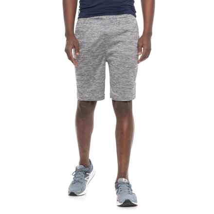 Reebok Cooldown Shorts - Slim Fit (For Men) in Charcoal Heather - Closeouts
