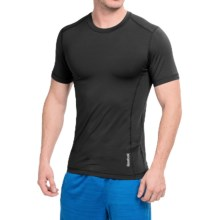 Reebok Core Compression Shirt - Short Sleeve (For Men) in Black - Closeouts