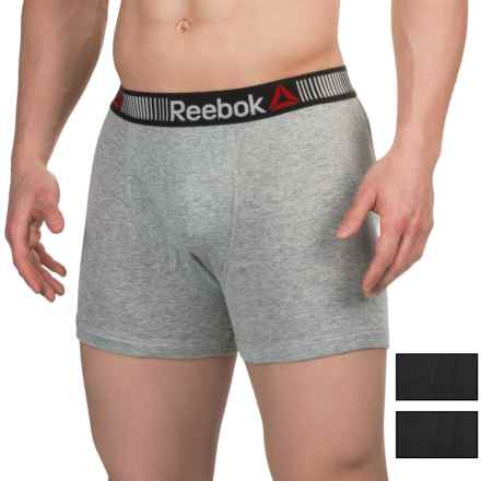Reebok Cotton Boxer Briefs - 3-Pack (For Men) in Black/Heather Grey/Black - Closeouts