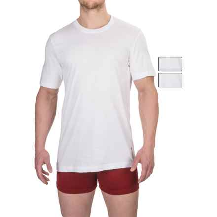Reebok Cotton Crew Undershirts - 3-Pack, Short Sleeve (For Men) in White - Closeouts