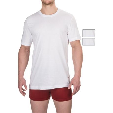 Reebok Cotton Crew Undershirts - 3-Pack, Short Sleeve (For Men) in White