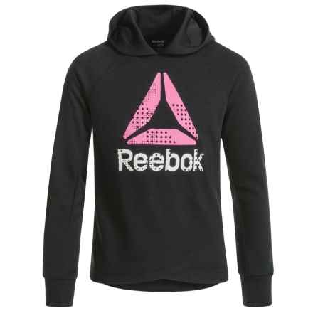 Reebok Crossbody Hoodie (For Big Girls) in Black - Closeouts
