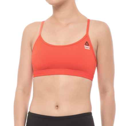 Reebok Crossfit Front Rack Sports Bra - Medium Impact, Racerback (For Women) in Carrot - Closeouts