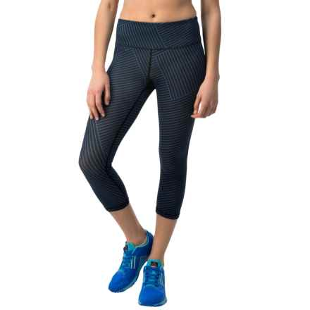 Reebok Crosswalk Lines Capris (For Women) in Dazzling Blue - Closeouts