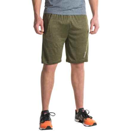 Reebok Cruz Gym Shorts (For Men) in Olive Night Heather - Closeouts