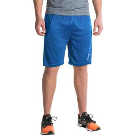 Reebok Cruz Gym Shorts (For Men) in Vital Blue Heather - Closeouts