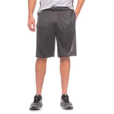 Reebok Cruz Shorts - Slim Fit (For Men) in Black Heather - Closeouts