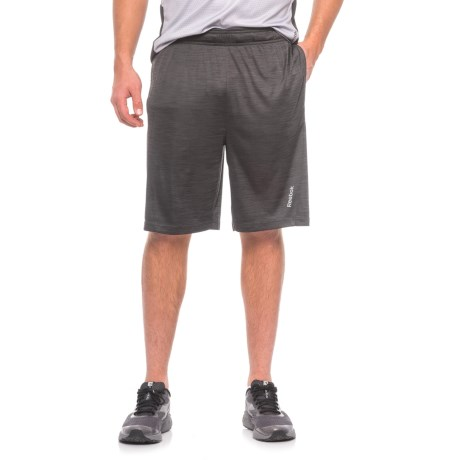 Reebok Cruz Shorts - Slim Fit (For Men) in Black Heather